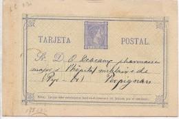 LCIRC7 - ESPAGNE EP CP EMISSION 1875 VOYAGEE - 1850-1931