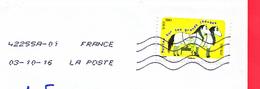 FRANCE - 2016 - DINDON DE LA FARCE - 42255A - 01  - Marseille Vallee De L Huveaune Ppdc  03/10/16 - Cartas