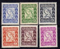 Martinique Taxe N° 27 / 36 X  La Série  Des 10 Valeurs Trace De Charnière Sinon TB