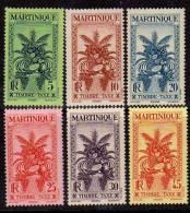 Martinique Taxe N° 12 / 22  X  La Série  Des 11 Valeurs Trace De Charnière Sinon TB