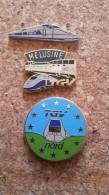 3  Pins  Trains Sncf  Tgv Melusine  Tgv Nord Et Metal - Pin's & Anstecknadeln