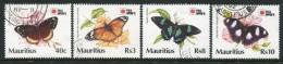 Mauritius 1991 Phila Nippon '91 - Butterflies Set Used (SG 855-58) - Mauritius (1968-...)