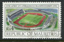 Mauritius 1992 8th African Athletics Championships, Port Louis - 4r Value Used (SG 868) - Mauritius (1968-...)