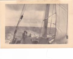 25930 Lot 9 Photos Belgique Anvers Antwerpen ? -bateau Yatch Regate Marin Femme Couple Voilier - Année 40-50