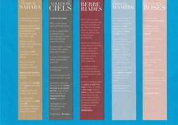 Cartes Parfumées  Carte LOT De 5 CARTES  STÉPHANIE De  SAINT AIGNAN RECTO VERSO - Cartes Parfumées