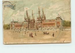 DEP 75 EXPOSITION DE 1900 PALAIS DE LA CERAMIQUE CARTE SYSTEME A REGARDER EN TRANSPARENCE - Expositions