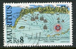 Mauritius 1998 400th Anniversary Of Dutch Landing - 8r Value Used (SG 986) - Mauritius (1968-...)