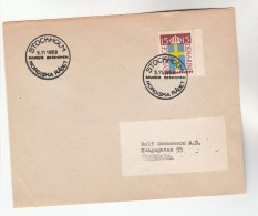 1959 SWEDEN Stamps COVER  EVENT Pmk NORDIC COUNCIL - Sweden