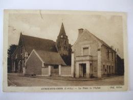 CHIN 0916 - 37  -  ATHEE SUR CHER - LA POSTE ET L'EGLISE - France