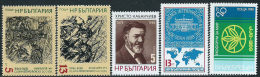 Bulgaria 1988 Nuovo** - Mi.3627;3634/5;3699;3710  Yv.3139;3146/7;3200;3211 - Nuovi