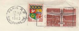 1962 FRANCE GLIDER Stamps COVER SLOGAN Pmk GOBELINS 300th ANNIV , Gliding Aviation - Airplanes