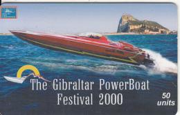 GIBRALTAR(chip) - The Gibraltar Powerboat Festival 2000, Tirage 5000, Used