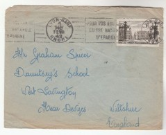 1949 Lyon Gare  FRANCE  Stamps COVER  SLOGAN Pmk To GB - France