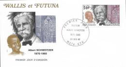 WALLIS Et FUTUNA 334 Enveloppe FDC 1er Albert SCHWEITZER Lambaréné Orgue Organ Gabon Docteur Nobel - Albert Schweitzer