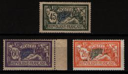 FRANCE - YT 143 *, 144 * Et 145 * - MERSON - 3 TIMBRES NEUFS * - 1900-27 Merson
