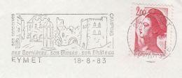 1983 FRANCE  Stamps COVER  SLOGAN Illus EYMET Castle - France