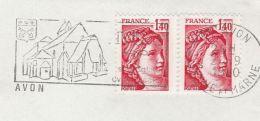 1980 FRANCE COVER Stamps SLOGAN Illus AVON CHURCH Religion - Christianity