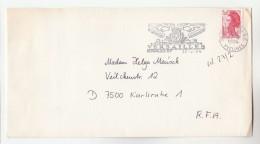 1984 FRANCE COVER Stamps SLOGAN Illus  VERSAILLES - France