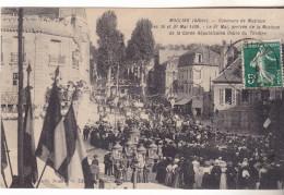 03 Moulins -Concours De Musique (30 & 31.05.1909) Animée Tb état écrite. Arrivée De La Garde Républiquaine. - Moulins