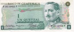 BILLETE DE GUATEMALA DE 1 QUETZAL DEL AÑO 1973 CALIDAD EBC (XF)  (BANKNOTE) - Guatemala