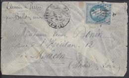 "DERNIER BALLON MONTE ""GENERAL CAMBRONNE "" Enveloppe Sans Texte, Correspondance De Paris Vers Macon, 28 Janvier 71 -"