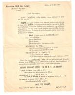 Avis De La Paroisse N.D. Des Anges Rabat Agdal, Maroc : CAREME 1954 ; Messe Préchée Par Le Curé Luc Laurent - Vecchi Documenti