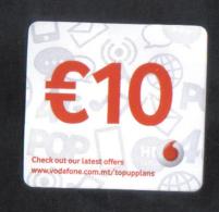 MALTA - NEW VODAFONE  PHONECARD  10 EUROS USED - Malta