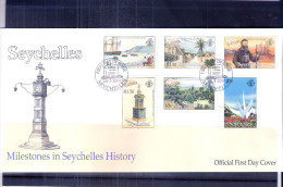 FDC Seychelles - Milestones In Seychelles History - 2001 - Complete Set (to See) - Seychelles (1976-...)