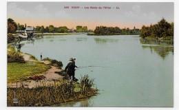 VICHY - N° 345 - LES BORDS DE L' ALLIER AVEC PECHEUR - CPA NON VOYAGEE - Vichy