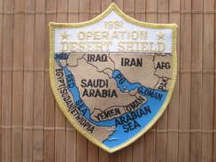 Feb 27 91 OPERATION DESERT  SHIELD IRAQ BAGHDAD Militaria US ARMY AMERICA--Écusson Tissu Gulf War -Badge Fabric - Scudetti In Tela