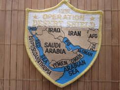 Feb 27 91 OPERATION DESERT  SHIELD IRAQ BAGHDAD Militaria US ARMY AMERICA--Écusson Tissu Gulf War -Badge Fabric - Patches