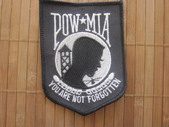 United States POW MIA KIA WIA Honor Glory Freedom Embroidered Fates Of Americans Still Prisoners Militaria ARMY  Écusson - Ecussons Tissu