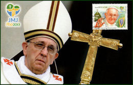 BRASIL/MAXIMUM CARD, 2013 - FRANCISCO POPE VISIT TO BRAZIL - WORLD YOUTH DAY - - Non Classés