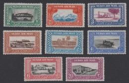 Sudan Airmail 8v MH Issue 1950 SG#115/22 SC#C35-C42 - Sudan (...-1951)