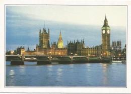 R3027 Gran Bretagna - Londra - Big Ben - Victoria Tower - Cartolina Con Legenda Descrittiva - Edizioni De Agostini - Europe
