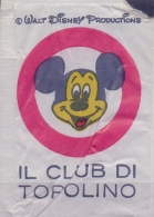 ITALIA : Suikerzakje/Sachet De Sucre/Sugar Package:  ## Walt Disney Productions: Il Club Di TOPOLINO ## - Sucres