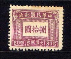 CHINE  - T76(*) - TIMBRE TAXE - 1949 - ... République Populaire