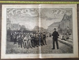 ANCIEN DOCUMENT 1880 DESSIN DE EDOUARD FRERE L EXERCICE LES ENFANTS ARMES - Collezioni