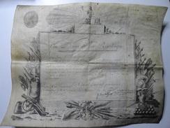 RARE : AU NOM DE LA RÉPUBLIQUE INFANTERIE 105ème RÉGIMENT 1789 - Documentos