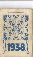 1938  12 Petites Pages Agraphées En Haut  5x3,8cm - Petit Format : 1921-40
