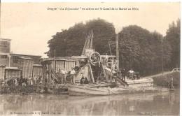 Drague La Dijonnaise En Action Sur Le Canal De La Marne Au Rhin - Ships
