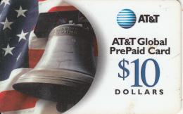 ALASKA(USA) - Flag & Bell, AT&T Prepaid Card $10, Used - Altri – America