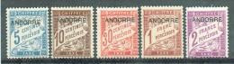 Französich-Andorra 1931-32 Portomarken Yvert 1-3, 6 Und 7 MNH/MLH