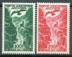 Französich-Andorra 1955-57Flugpost Yvert PA 2 Und 3 MNH