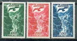 Französich-Andorra 1955-57 Flugpost Yvert PA 2 - 4 MNH
