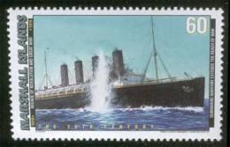 Submarine Warfare, German U-20 Torpedo Cunard Liner SS Lusitania, Battleship, War, Near Ireland, MNH Marshall Islands