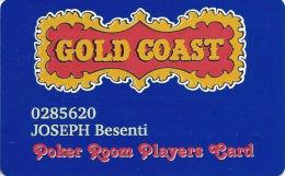 Gold Coast Casino Las Vegas - Poker Room Players Card - Casino Cards