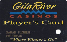 Gila River Casino - Chandler, AZ - 2nd Issue Slot Card - CPICA 28667 On Back - Casino Cards