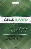 Gila River Casino - Chandler, AZ - Players Club Emerald Slot Card - Small Hotel & Casino In Logos - Casino Cards