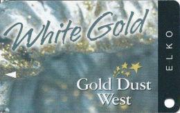 Gold Dust West Casino Elko City, NV - Slot Card - Copyright 2008 - Casino Cards